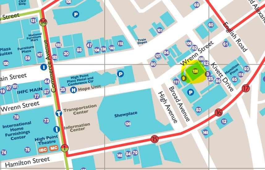High Point Map Closeup